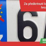 Zákaz řízení za přeškrtnutí loga EU