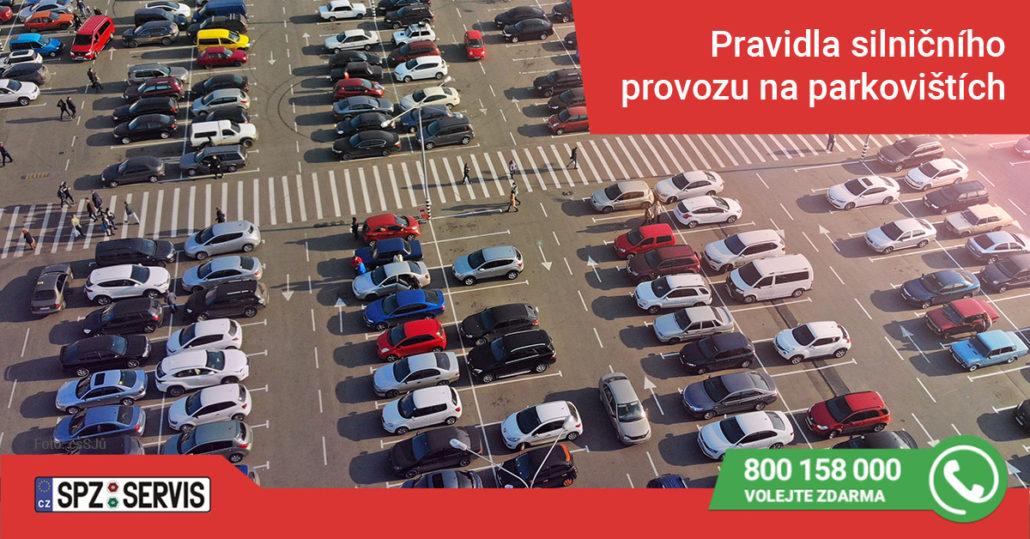 Na parkovišti někdy  neplatí pravidla silničního provozu