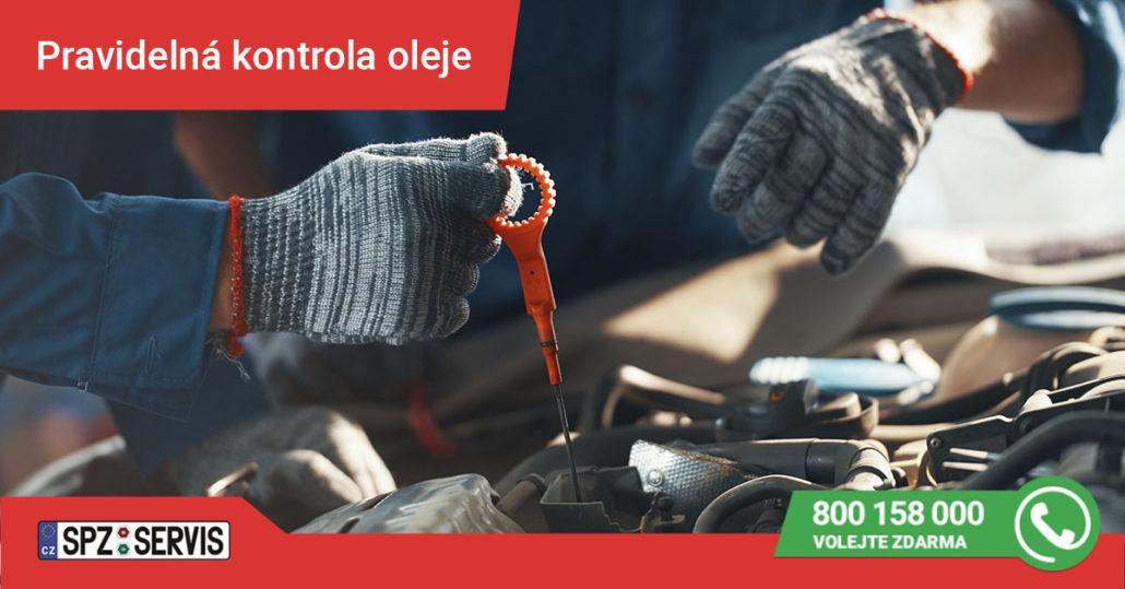 Pravidelná kontrola motorového oleje