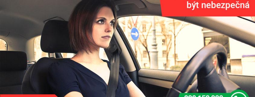 I pomalá jízda může být nebezpečná