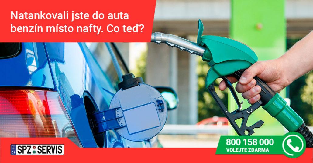 Natankovali jste do auta benzín místo nafty?